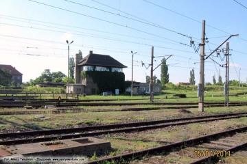 Dworzec rozrządowy w Zbąszynku - nastawnia Zk-13. 05.07.2011