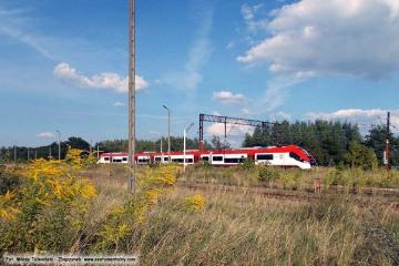 Pociąg z Poznania do Zbąszynka.