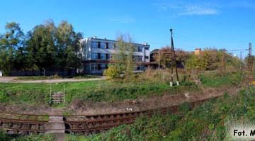 Widok na ulicę Kolejową od strony dworca towarowego. 19.10.2014