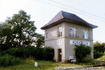 """Posterunek odgałęźny w stronę Babimostu """"KOSIECZYN"""" 02.09.2002."""