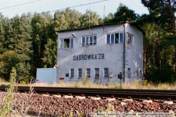 """Nastawnia """"Dąbrówka"""", wjazd od Rzepina - 06.08.2002"""