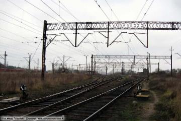 09.12.2009 Widok w rejonie nastawni ZK-15 w stronę wiaduktów Kosieczyńskich.