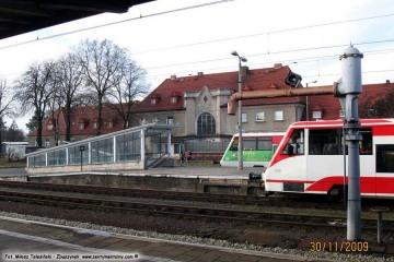 Dworzec osobowy w Zbąszynku. 30.11.2009