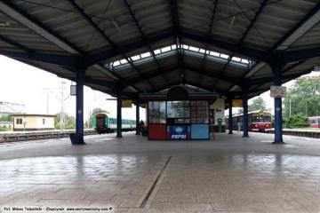 01.10.2009 wejście na peron drugi - do 1945 roku celny, gdzie była odprawa podróżnych.