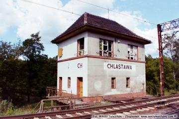 Posterunek odgałęźny CHLASTAWA w stronę Poznania 02.09.2002
