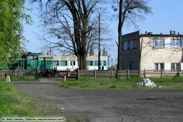 Widok na myjkę wagonów w dniu 25.04.2009.
