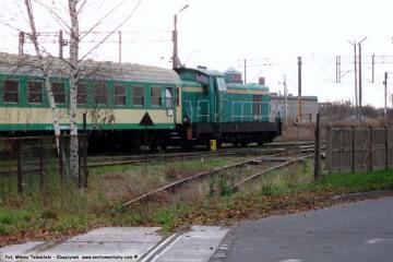 Reszta przejazdu pomiędzy bocznicą wikliny i GS ów (do 1945 tartaku), a myjką wagonów w dniu 23.11.2009