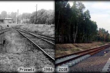 Przewóz w 1986 i 2018 roku