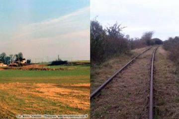 Klępicz na trasie Godków – Siekierki od strony Siekierek w dniu 17.02.1990 i w 2017 roku. Porównanie powstało dzięki koledze z Klępicza, który przysłał mi aktualną fotkę.