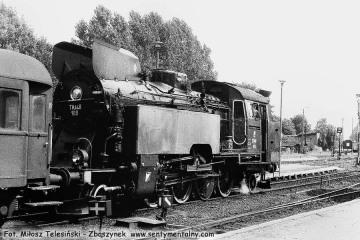 Tkt48-109 na stacji Międzyrzecz w dniu 08.08.1986