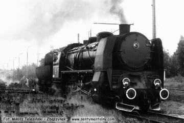 Rzepin 08.09.1986. Ty45- 363 przy lokomotywowni.