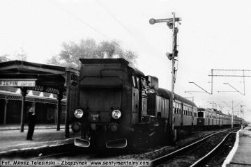 Tkt-48-74 do Sulęcina na stacji Rzepin w dniu 08.09.1986. Maszynistą był Pan Adamczak z Międzyrzecza - nie żyje.