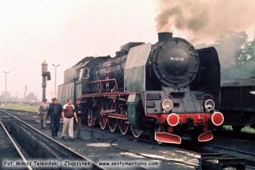 Pt47-13 w Stalowa Wola - Rozwadów do pociągu specjalnego z okazji pożegnania parowozów w Lubelskiej D.O.K.P.. Prowadziła planowy pociąg do Lublina w dniu 30.06.1988.