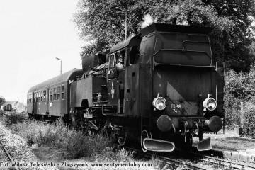 Tkt48-74 na stacji Templewo z pociągiem Sulęcin - Międzyrzecz w dniu 08.09.1986. Maszynistą był Pan Adamczak z Międzyrzecza - nie żyje.