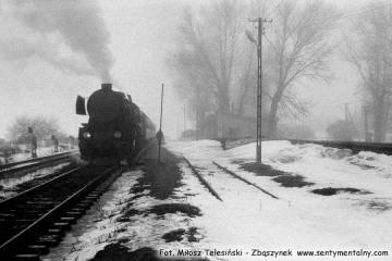 Trakiszki 26.03.1988. Ty2-1252 ze skłądem gotowy do Suwałk.