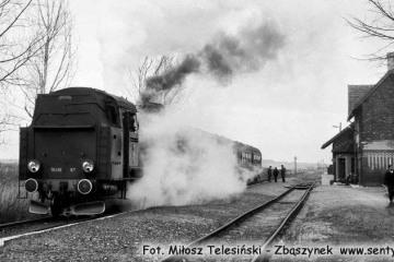 Trzcinica Wlkp. Tkt48-87 z Bukowej Śląszkiej do Kępna w dniu 28.01.1990.