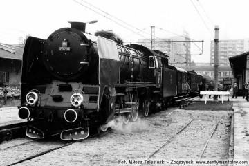 Warszawa Główna w dniu 06.09.1986. Pt47-50 z pociągiem specjalnym do Sochaczewa z okazji otwarcia Muzeum Kolei Wąskotorowej.
