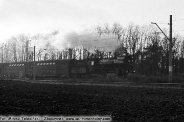 Ol49-59 ze składem do Wolsztyna w dniu 12.11.1986.