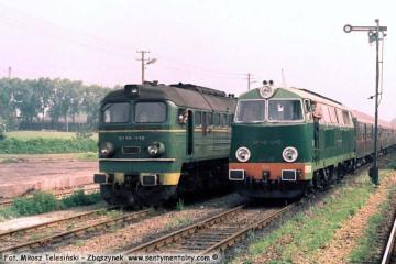 Lublin Zemborzyce ST44-448 i SP45-046 w dniu 30.06.1988.