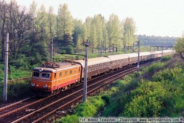 """Zbąszynek.  EP05-10 z """"Beroliną"""" w dniu 09.05.1989"""