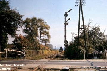 Międzyrzecz 21.09.1986. Wjazd pociągu z Sulęcina.