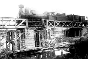 Włodawa. Próba wytrzymałości w 1915 roku.