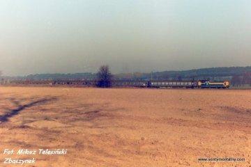 Wierzbno 19.03.1990. SP32 z osobowym do Międzychodu.