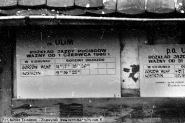 Ulim w dniu 04.09.1986. Zmiana rozkładu jazdy.