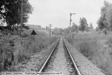 Sulęcin  08.09.1986.  Widok na wyjazd w kierunku Międzyrzecza.