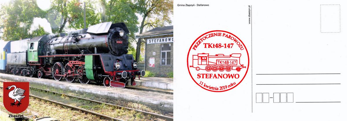 W dniu 11.04.2019 przytoczono do Stefanowa z Wolsztyna parowóz Tkt48-148 do remontu, który docelowo ma tu stanąć jako pomnik.