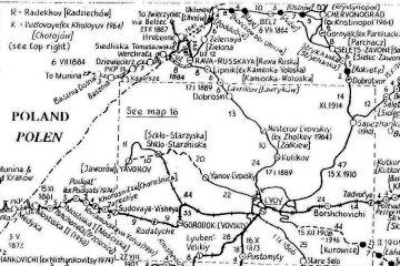 Przedstawienie połączeń kolejowych po wojnie, zmiany w okolicach Bełżca.