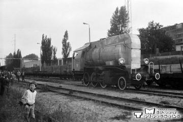 Elbląg Zdrój 27.06.1987. Parowóz bezpłomieniowy Tki3b-53.