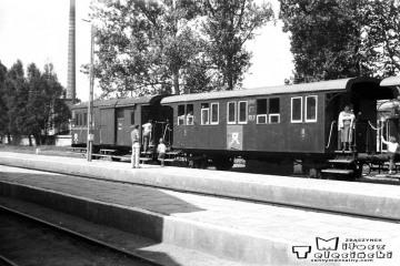 Tolkmicko 27.06.1987. Pociąg specjalny Elbląg - Frombork - Braniewo - Pieniężno - Elbląg. Na początku parowóz Tkt48-122, jako drugi 149.