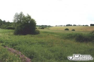 Miejsce rozwidlenia toru przed Słobitami jadąc z Braniewa. Tor w stronę Ornet - Lidzbarka Warmińskiego 13.06.1998 .