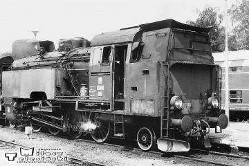 Międzyrzecz w dniu 08.08.1986. Tkt48 - 74 ze składem zbiorowym do Toporowa.