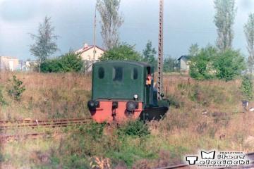 Lokomotywa SM02 na stacji Gniezno Winiary w dniu 09.09.1988.