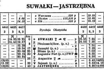 Suwałki - Jastrzębna zima 1951