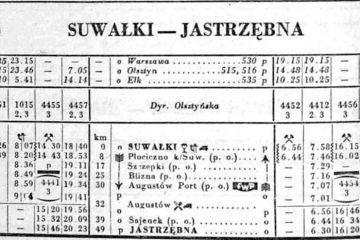 Suwałki - Jastrzębna zima 1952