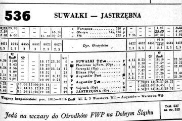 Suwałki - Jastrzębna lato 1954