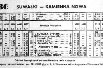 Suwałki - Kamienna Nowa zima 1955