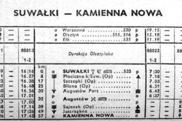 Suwałki - Kamienna Nowa 1956/57