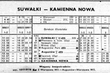 Suwałki - Kamienna Nowa . Lato1957