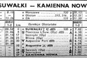 Suwałki - Kamienna Nowa . Zima 1958