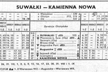 Suwałki - Kamienna Nowa . Lato 1959