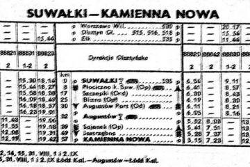 Suwałki - Kamienna Nowa . Lato 1960