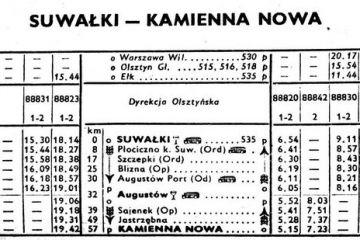 Suwałki - Kamienna Nowa . Zima 1960