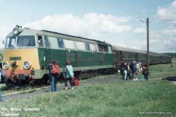 Zachodni 18.06.1993. SU45-138 osobowym Ełk - Olsztyn.