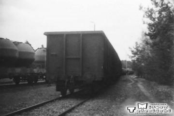 Rudnica . Manewry pociągu zbiorowego w kwietniu 1991.