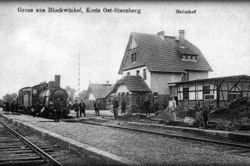 Płonica - Bolemin w 1914 roku. Kopanie rowu pod wagę.