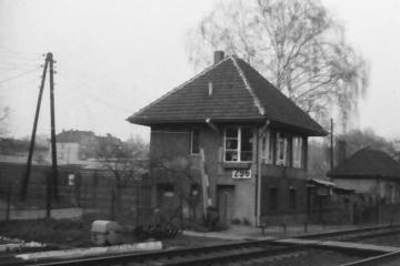 Gorzów Wlkp. Strażnica przy ulicy Teatralnej w kwietniu 1991.